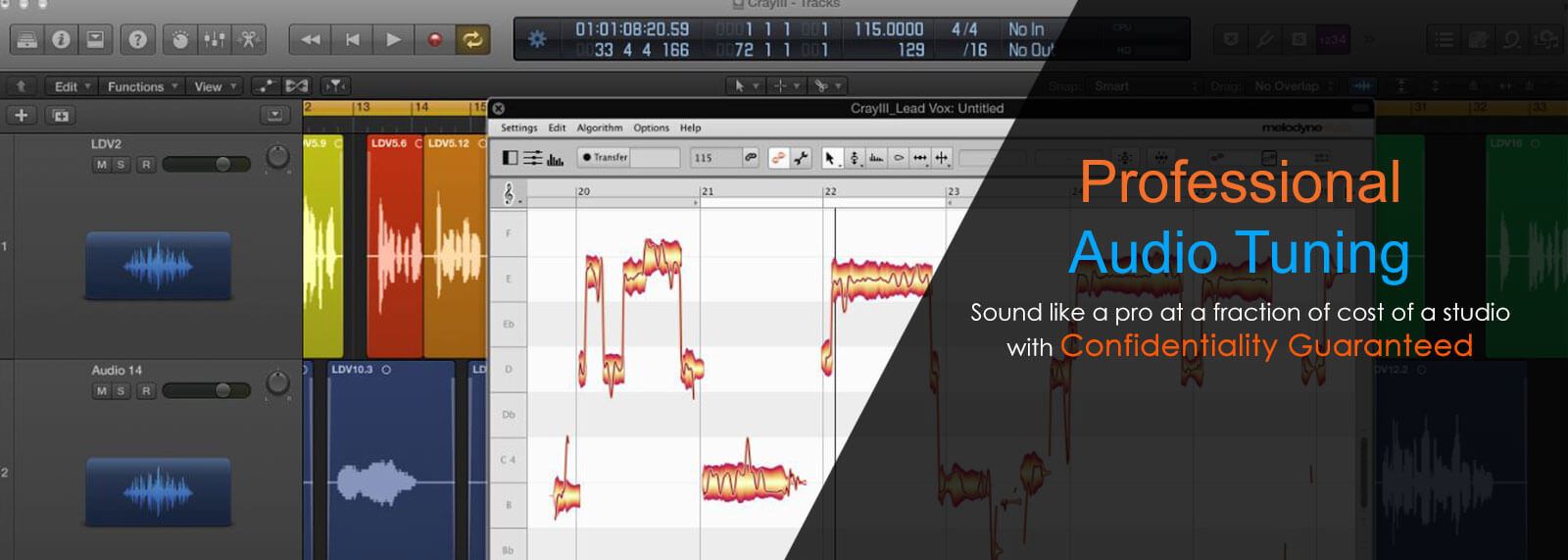 Voice professional quality, Online audio tuning, Vocal tuning for amateurs